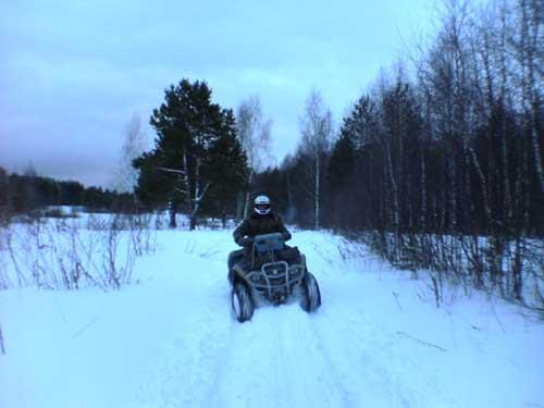 Картинки на квадроциклах зимой
